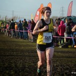 Cassie Holmes approaching the finish