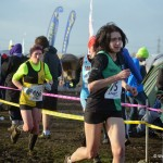 Sarah Attwood approaching the finish