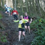 Janet Cordingley descending at Guis Woods