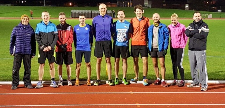 Marathon Specific Training Sessions Available at the Track.