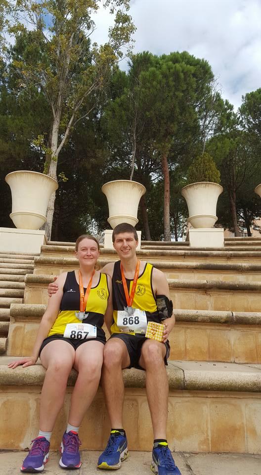 The Robson's at Benidorm Half Marathon
