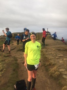 Sarah Atwood at Roseberry Topping