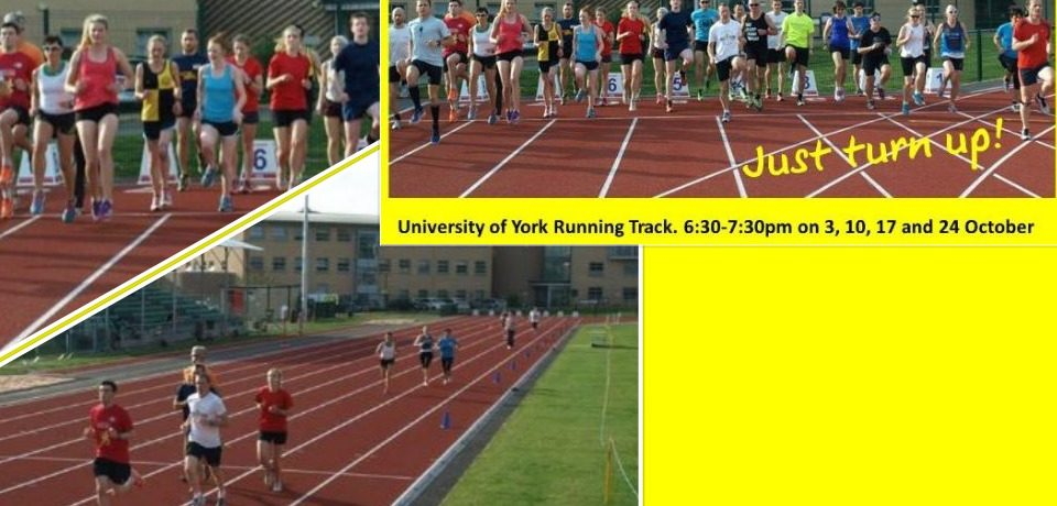 INTRODUCTION TO TRACK TRAINING – 3rd, 10th, 17th and 24th October.